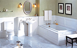 Ванная комната в классическом стиле (фото)
