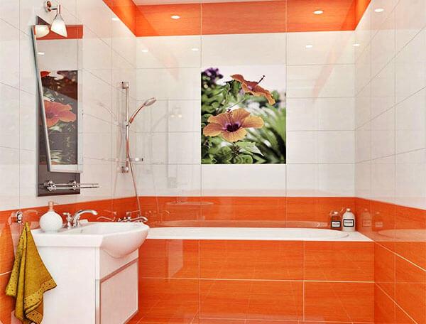 Фото комнат с обоями с цветами