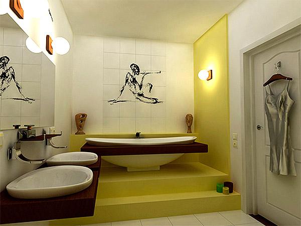 Ванная комната в этническом стиле (фото)