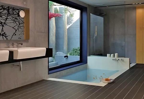 ванна в стиле хай-тек фото