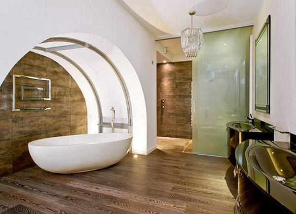 Интерьер ванной в стиле модерн (фото)