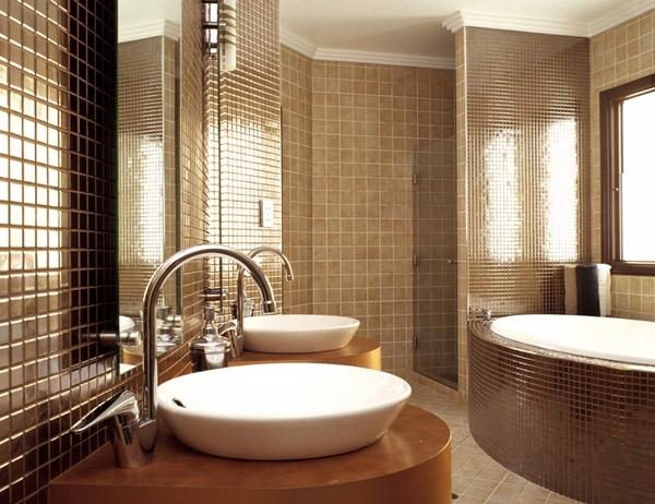 Стиль модерн в интерьере ванной (фото)