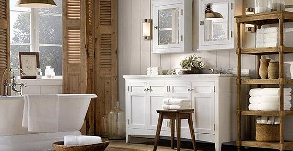Стиль прованс в интерьере ванной