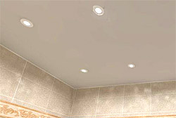 потолок в ванной в фото