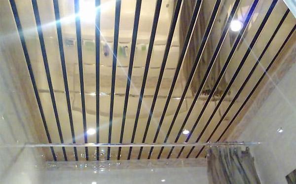 Как делать реечный потолок 50