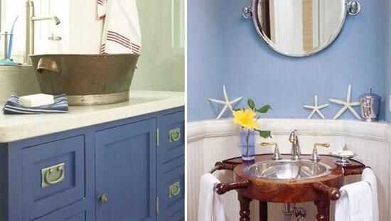 Аксессуары для ванной в морском стиле - морские звезды