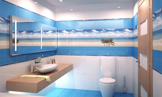 Фото-панно морского стиля для ванной (фото)