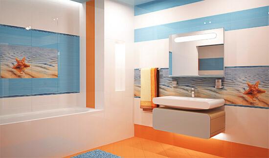 Бежевые цвета стен ванной (фото)