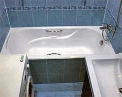 Ванна отделанная плиткой
